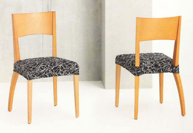 Funda de sillas el sticas tejido luna - Fundas elasticas para sillas ...
