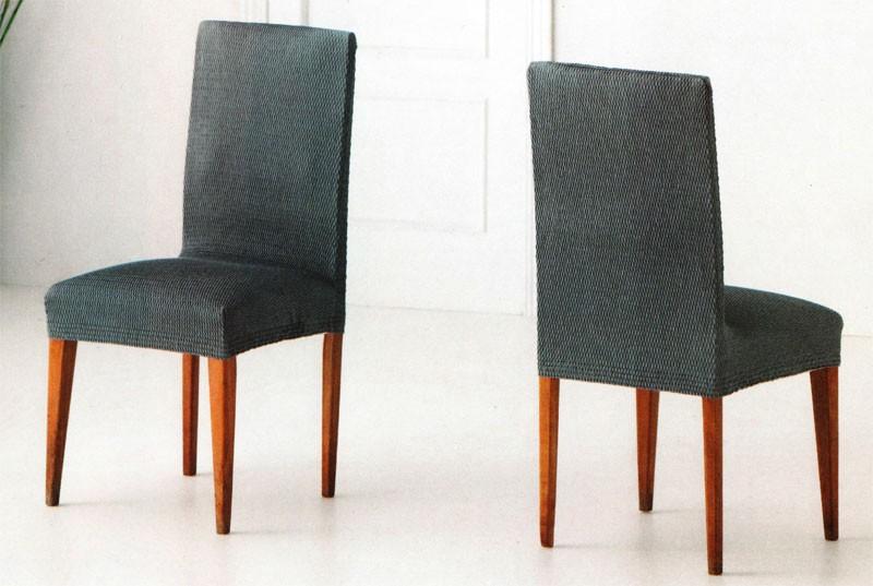 Funda de sillas el sticas tejido venus con respaldo - Fundas elasticas para sillas ...