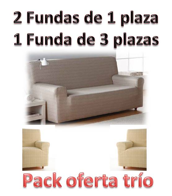 Fundas de sof s trio for Funda sofa dos plazas
