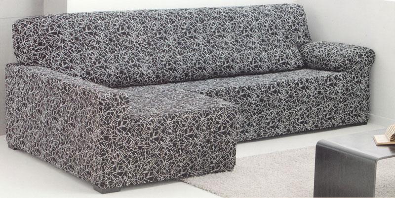 Funda para sof chaise longue el stica tejido luna ocho - Funda sofa chaise longue elastica ...