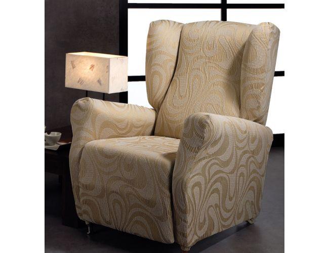 Funda de sillón OREJERO elástica serie ORO tejido DANUBIOFunda de sillón OREJERO elástica serie ORO tejido Sophie