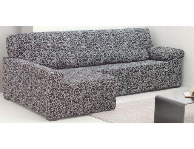 Funda de sofá Chaise Longue elástica tejido Luna