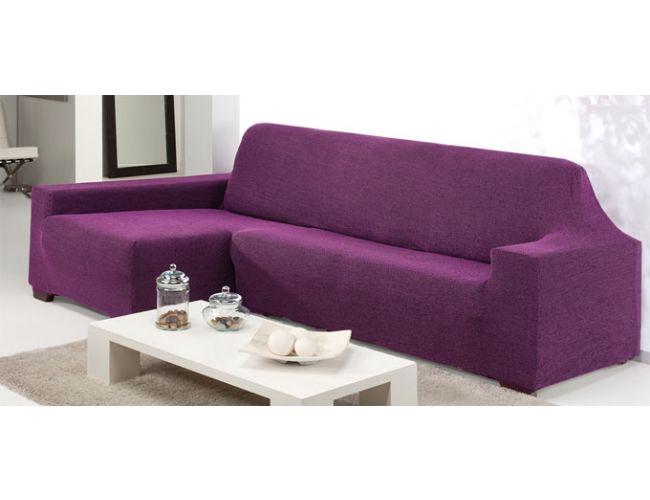 Funda el stica para sofa chaise longue adelina once colores - Funda elastica chaise longue ...