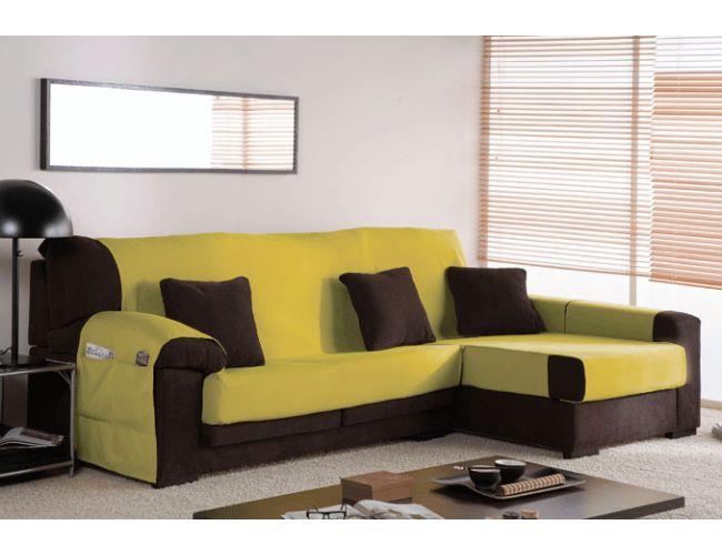 Funda cubre sof s chaisse longue tejido olimpia ocho - Fundas a medida para sofas ...
