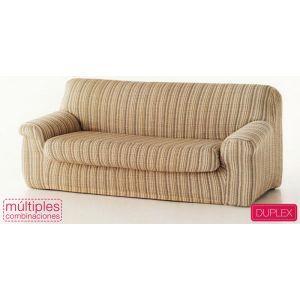 Funda de sofá Mercurio de 3 plazas Duplex con cojín separado - Color Beig