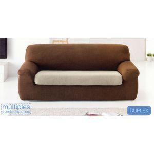 Funda de sofá elástica tejido VENUS - Duplex cojín separado - Colores combinables