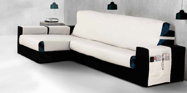 "Funda cubre sofá practica para chaise longue ""Elisabeth"""