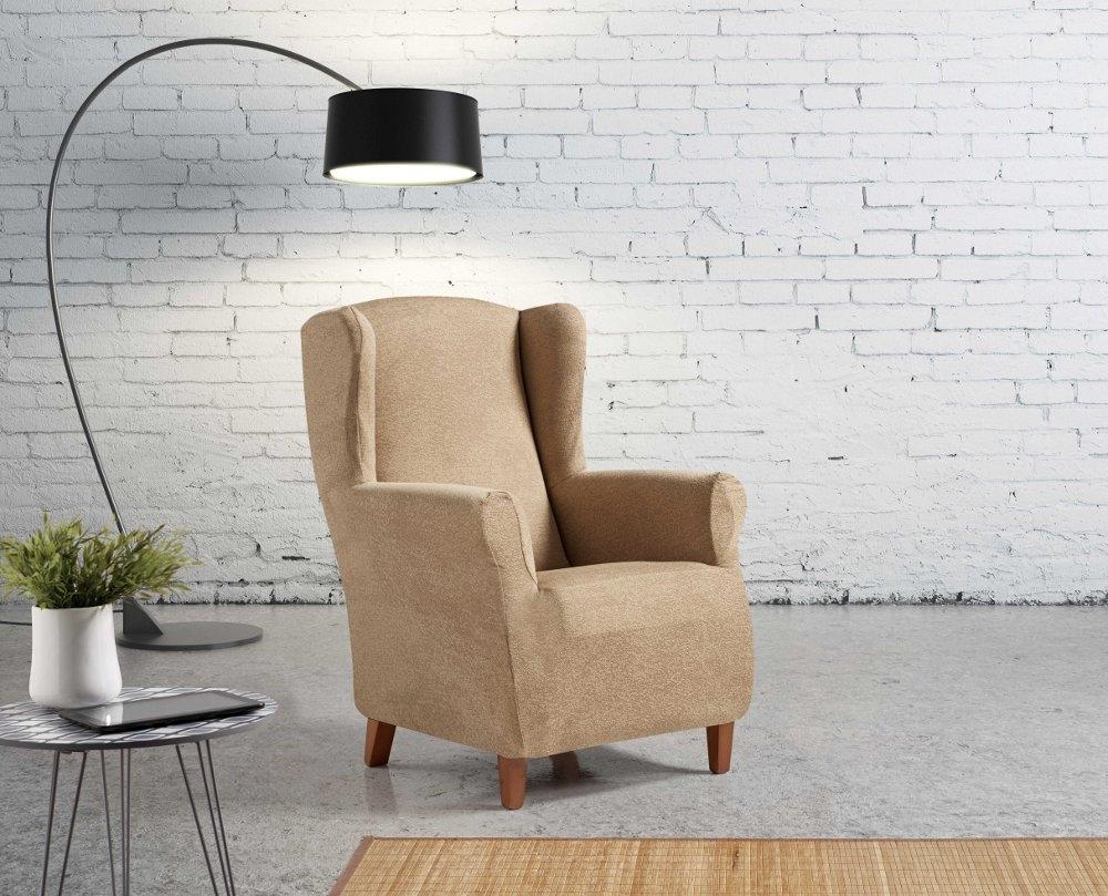 """Funda para sillón orejero """"Oriental"""" en ambiente"""