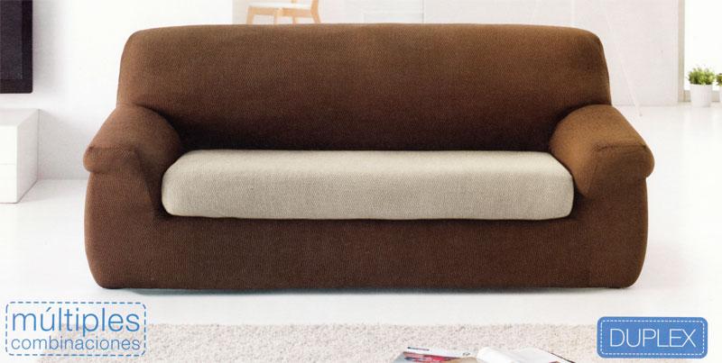 Funda de sofá Venus de 3 plazas Duplex con cojín separado