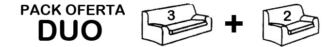 1 funda de sofá de 3 Plazas + 1 Funda de sofá de 2 Plazas