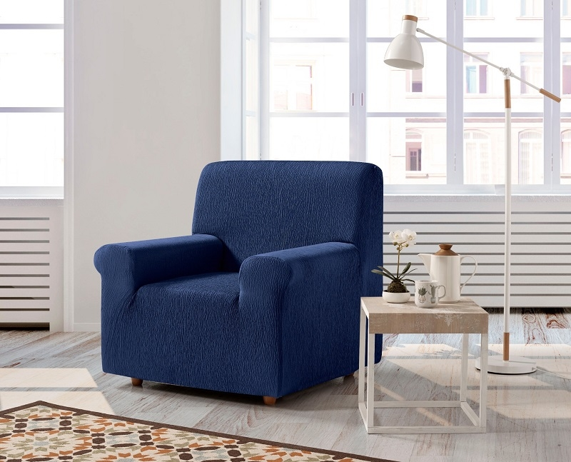 """Funda de sofá """"Odisea"""" una plaza azulón"""